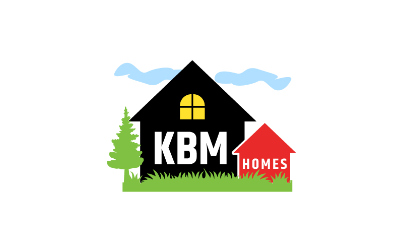 Serious Modern Home Builder Logo Design For Kbm Homes