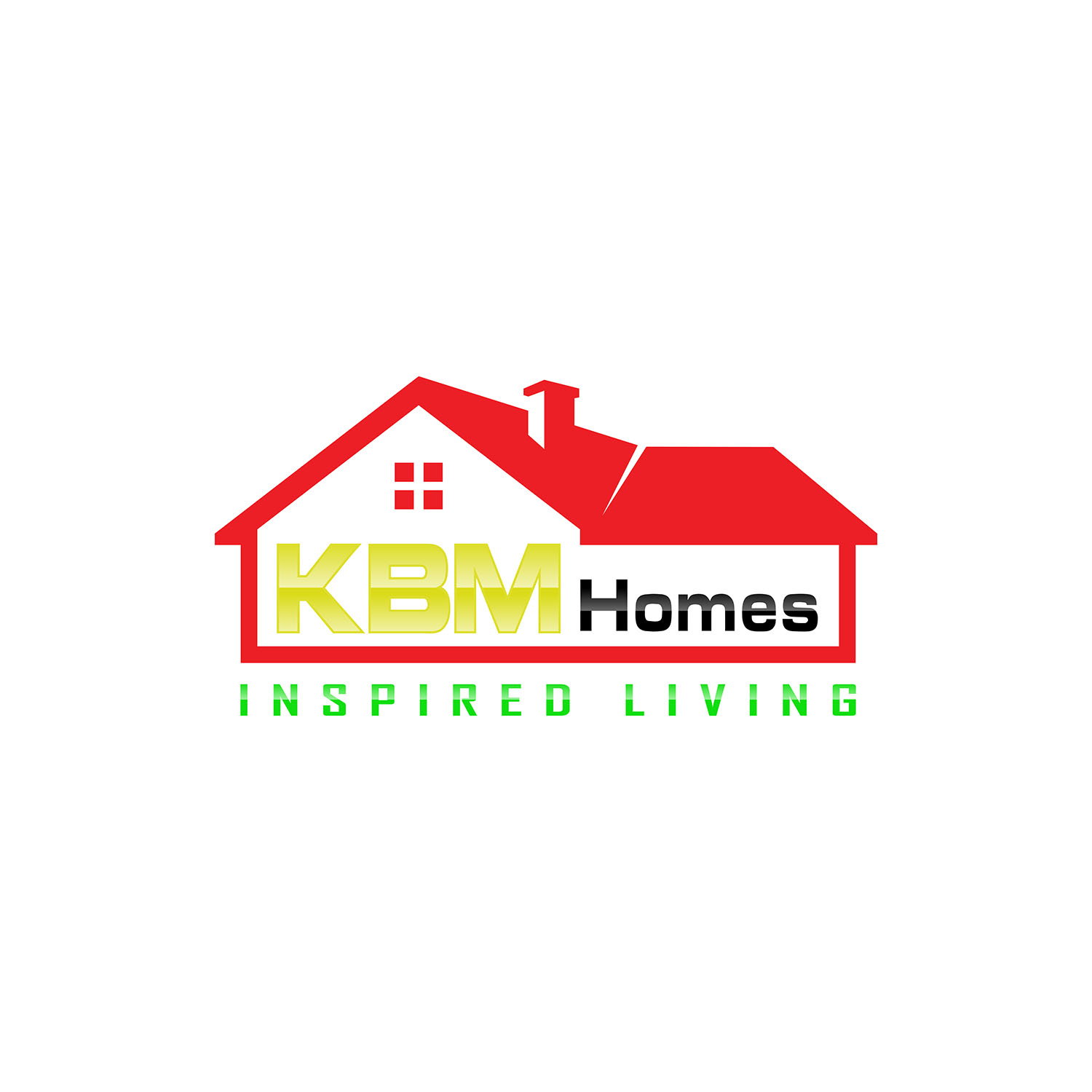 Serious Modern Home Builder Logo Design For Kbm Homes Perhaps Inside Within The House Outline Inspired Living Outside Perhaps Below The House Outline Again Open To Creative Suggestion By
