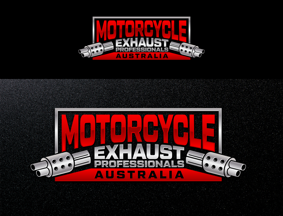 Logo Design For Motorcycle Exhaust Professionals Australia By Afd Design 19922681