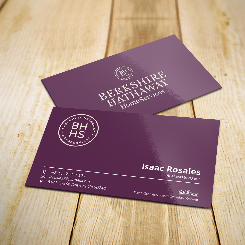 Design De Carte Visite Par Imamart Pour Berkshire Hathaway Home Serives