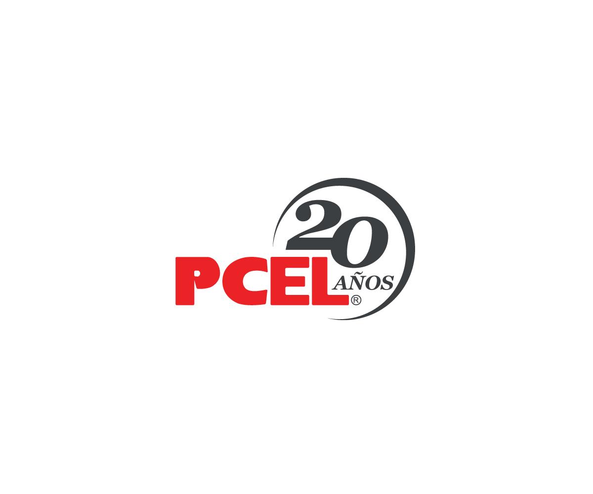Atrevido Profesional Tech Diseño De Logo For Pcel 20 Aniversario