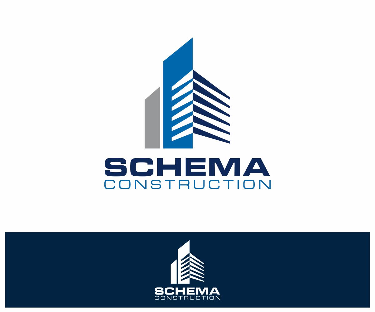 Serious Modern Construction Company Logo Design For Schema
