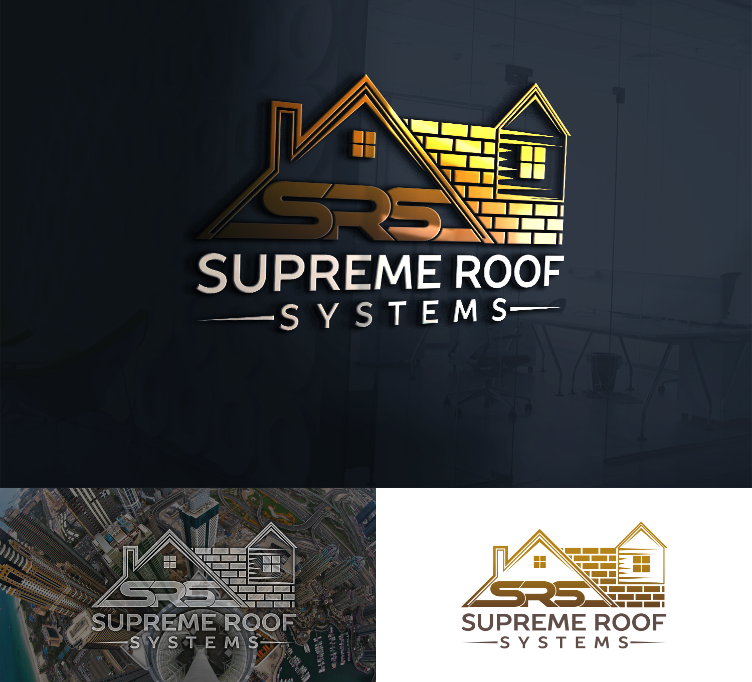 Modern Professional Logo Design For Srs But Also Open To Having Supreme Roof Systems On The Bottom Of The Logo By Shujaat Creative Design 19942426