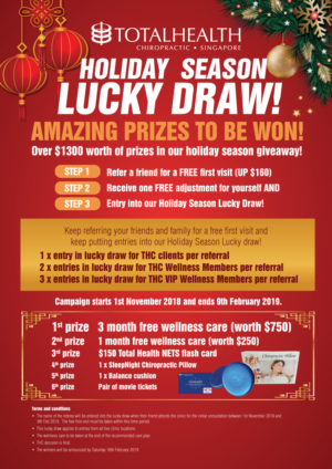 Chiropractic Business Needs A Xmas Cny Lucky Draw Poster 6 Poster Designs For Total Health Chiropractic Pte Ltd