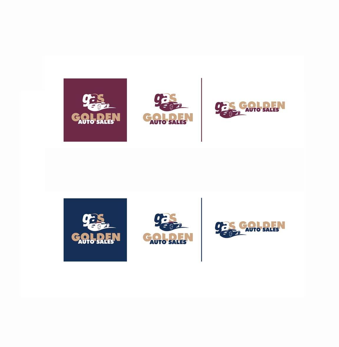 Professional, Masculine, Car Dealer Logo Design for Golden Auto
