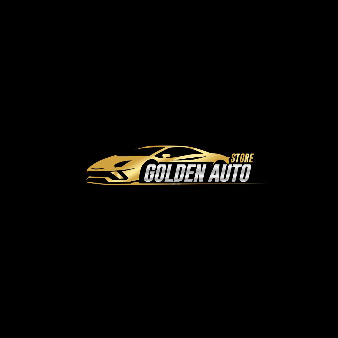 Car Dealer Logo Design For Golden Auto