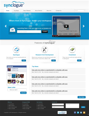 "Wordpress Design job – ""Corporate Site Design of Cloud Application Venture""(Wordpress Design Project) – Winning design by pb"