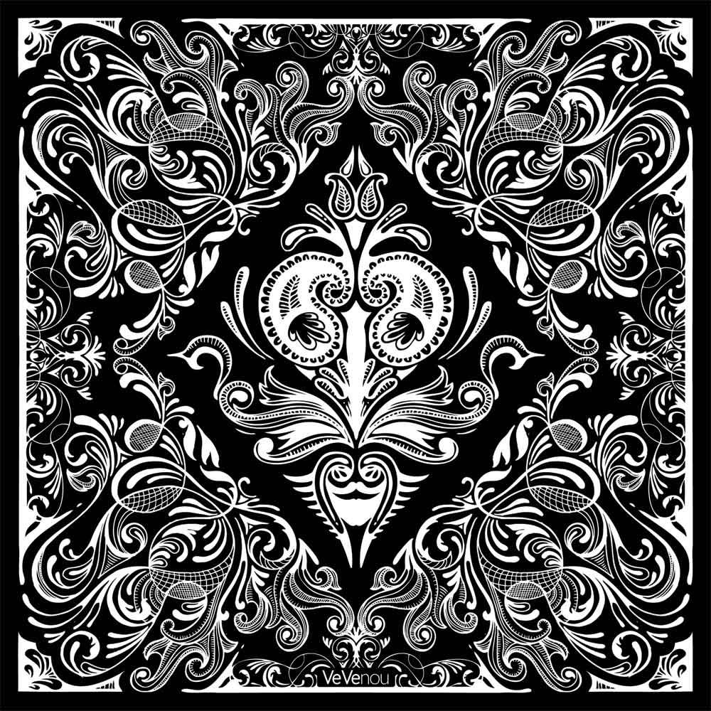 black bandana pattern wallpaper