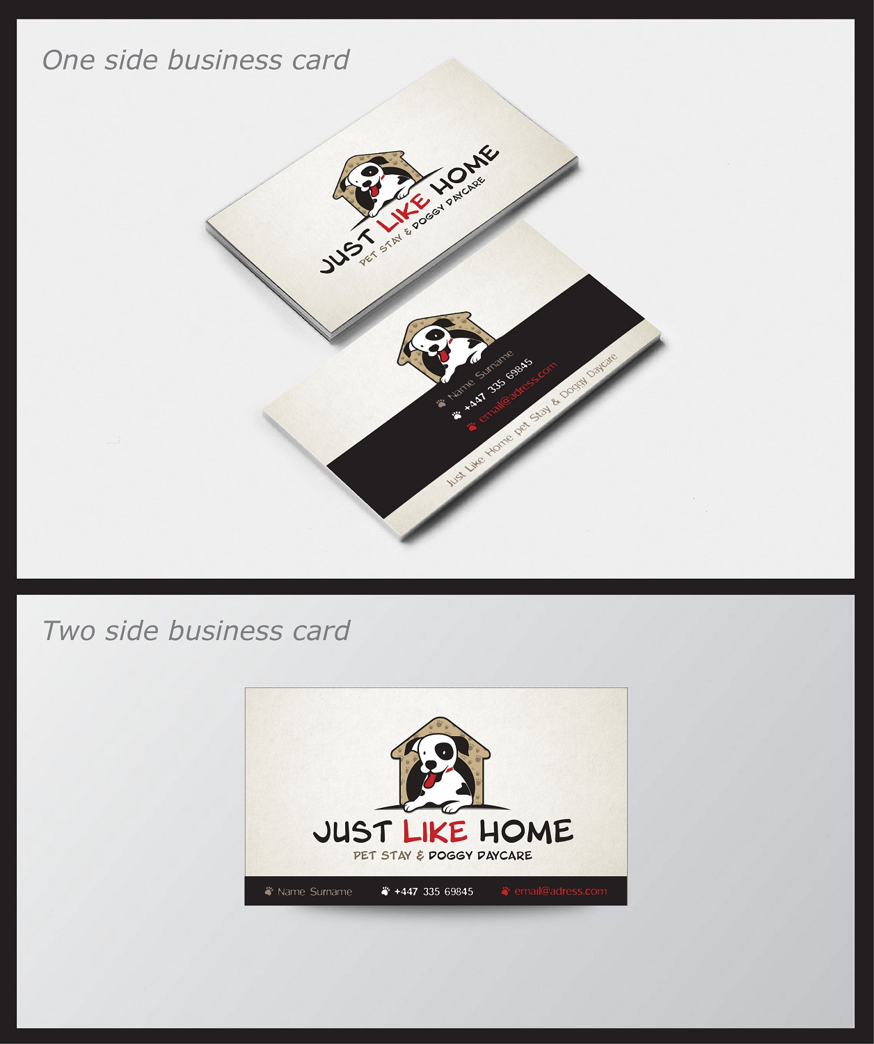 Logo Design For Just Like Home Pet Stay Doggy Daycare By Artyfive