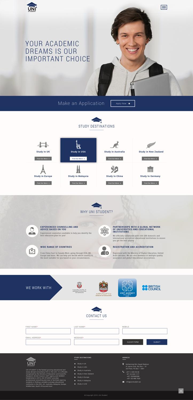 Professional Modern Education Web Design For A Company By Abhinav Katiyar Design 20050623