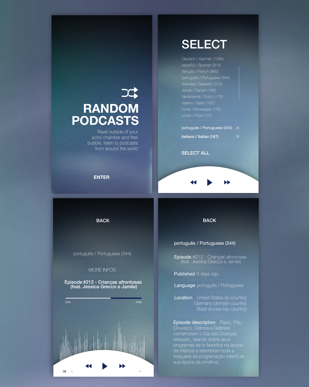 Elegant, Serious App Design for a Company by silvia 5 | Design #20122222