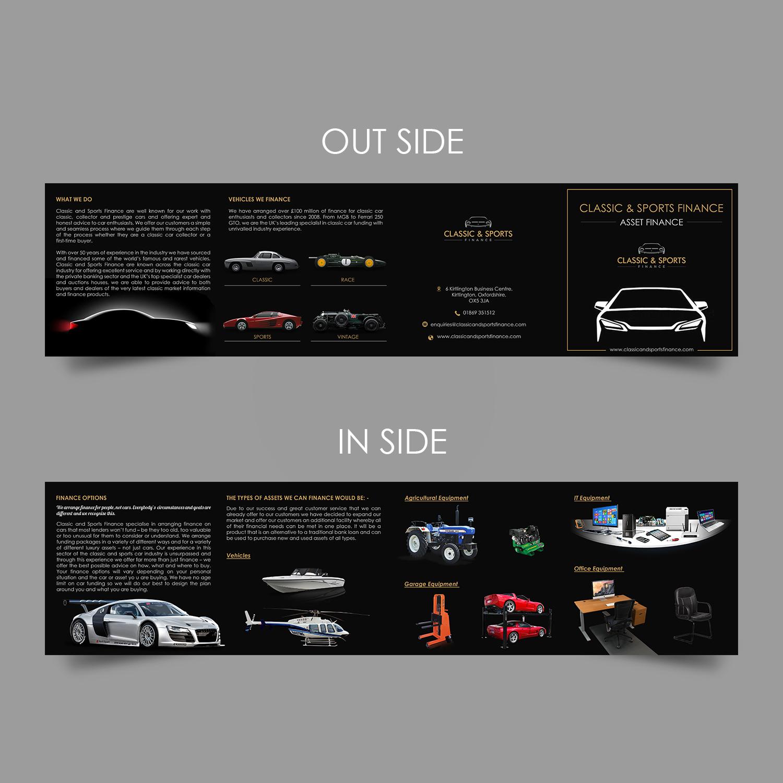 Design Bank Cor.Upmarket Modern Financial Flyer Design For Classic Sports