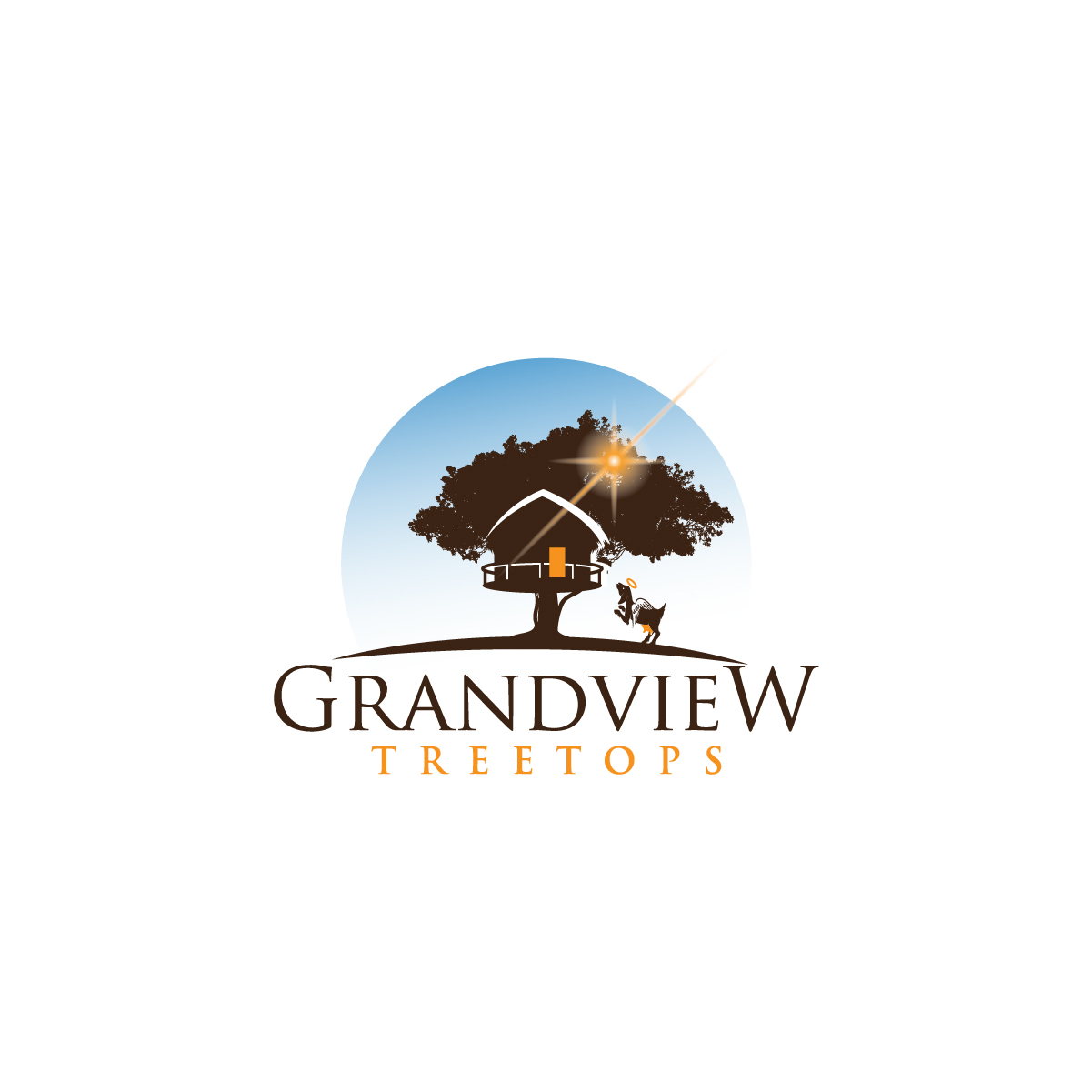 Logo design for a GrandView Treetops by creative.bugs