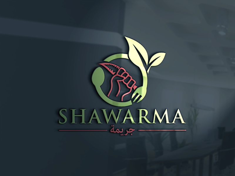 Elegant Playful Restaurant Logo Design For Shawarma Crime