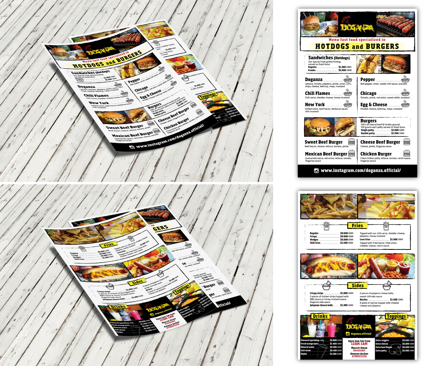 Masculine, Bold, American Restaurant Menu Design for a