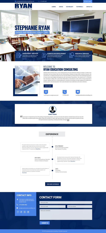 Bold, Modern, Education Web Design for a Company by Dream Logo