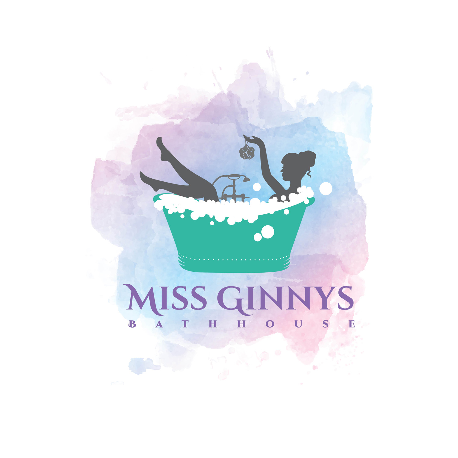 Miss Ginnys Bathhouse Watercolor Logo Design by samanit for a School Golf Team