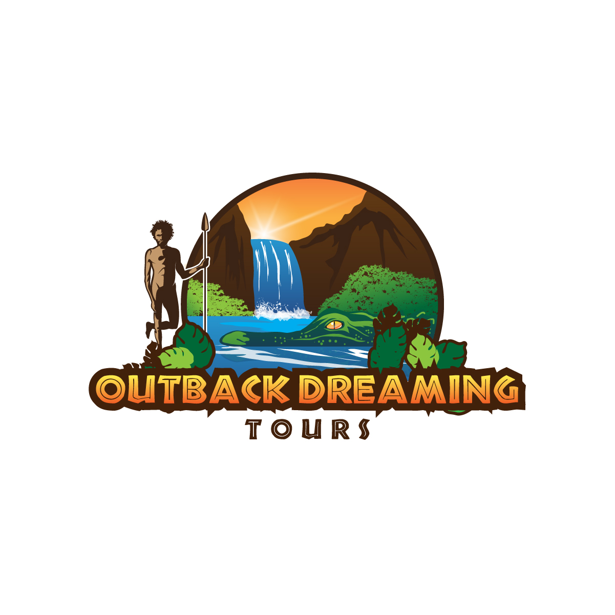 Outback Dreaming Tours Logo by creative.bugs