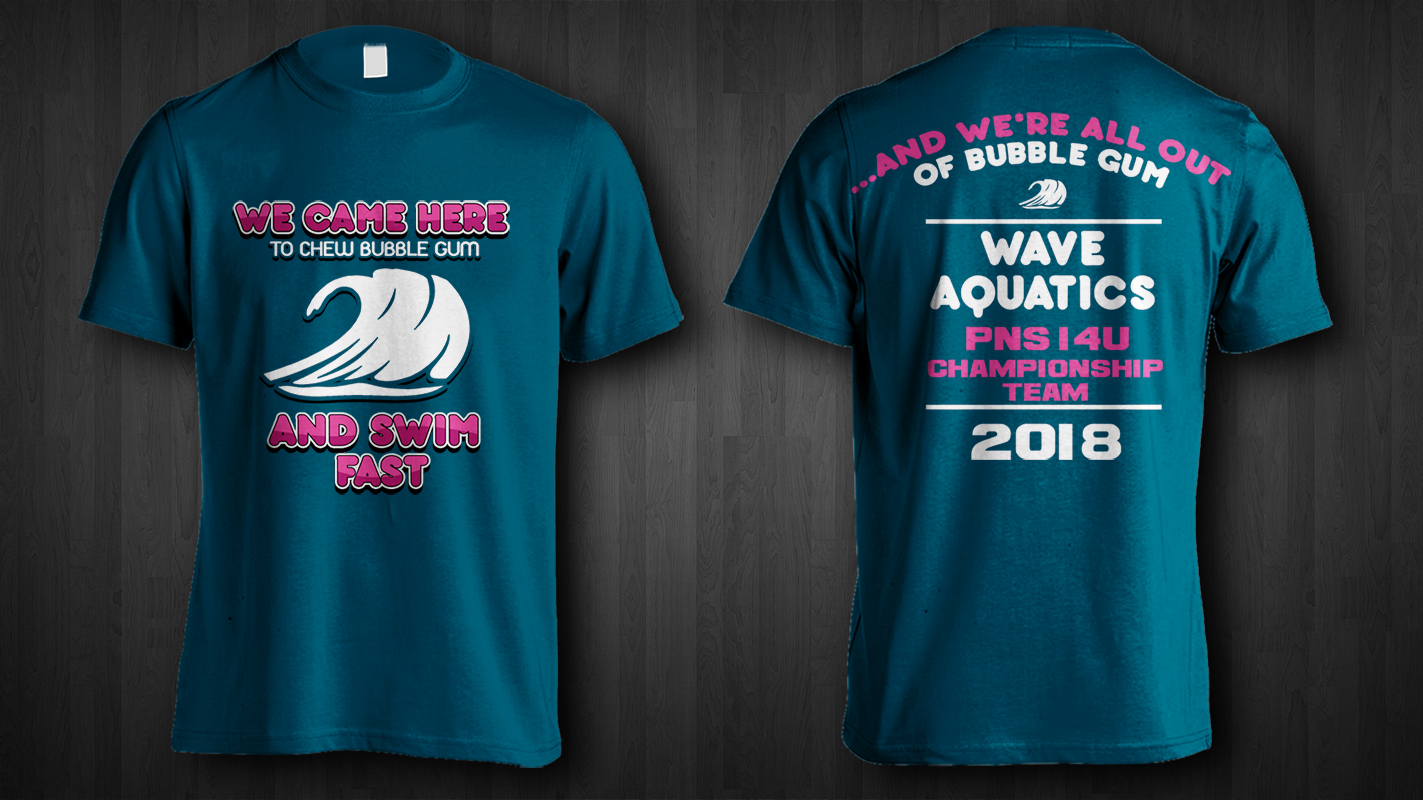 579aa908f T-shirt Design by Jonya for Wave Aquatics | Design #20239473