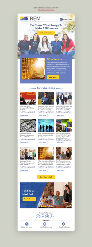 Newsletter Design by Dabashes Adhikery