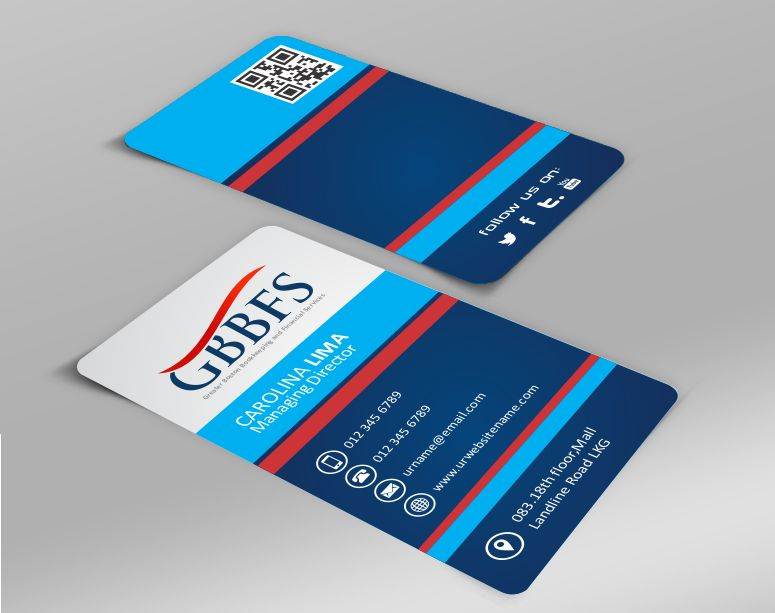 Elegant Upmarket Accounting Business Card Design For Greater