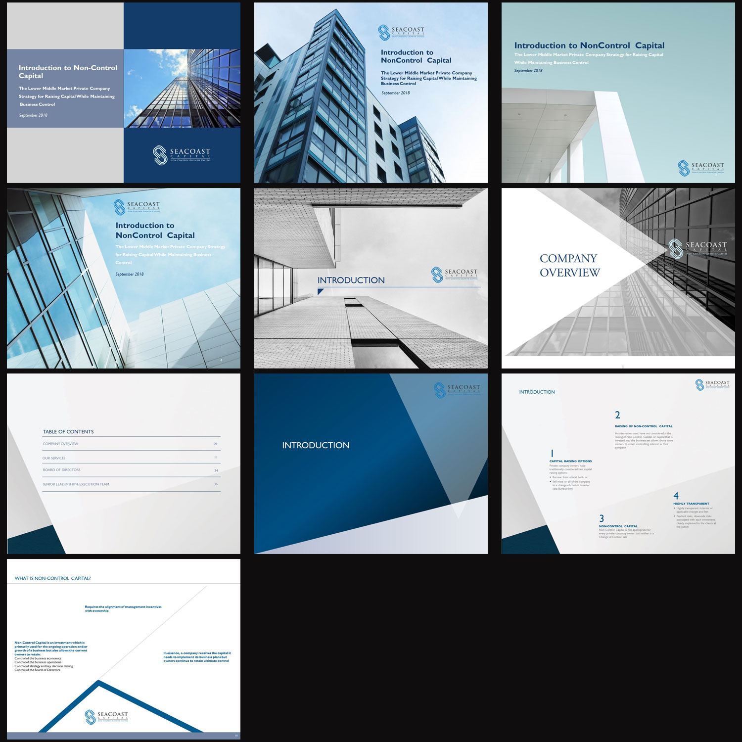 Serious, Professional PowerPoint Design for Seacoast Capital