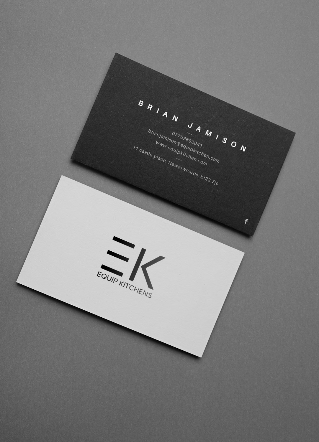 Professional Upmarket Interior Design Business Card Design For Ek Equip Kitchens By Sandaruwan Design 20297245