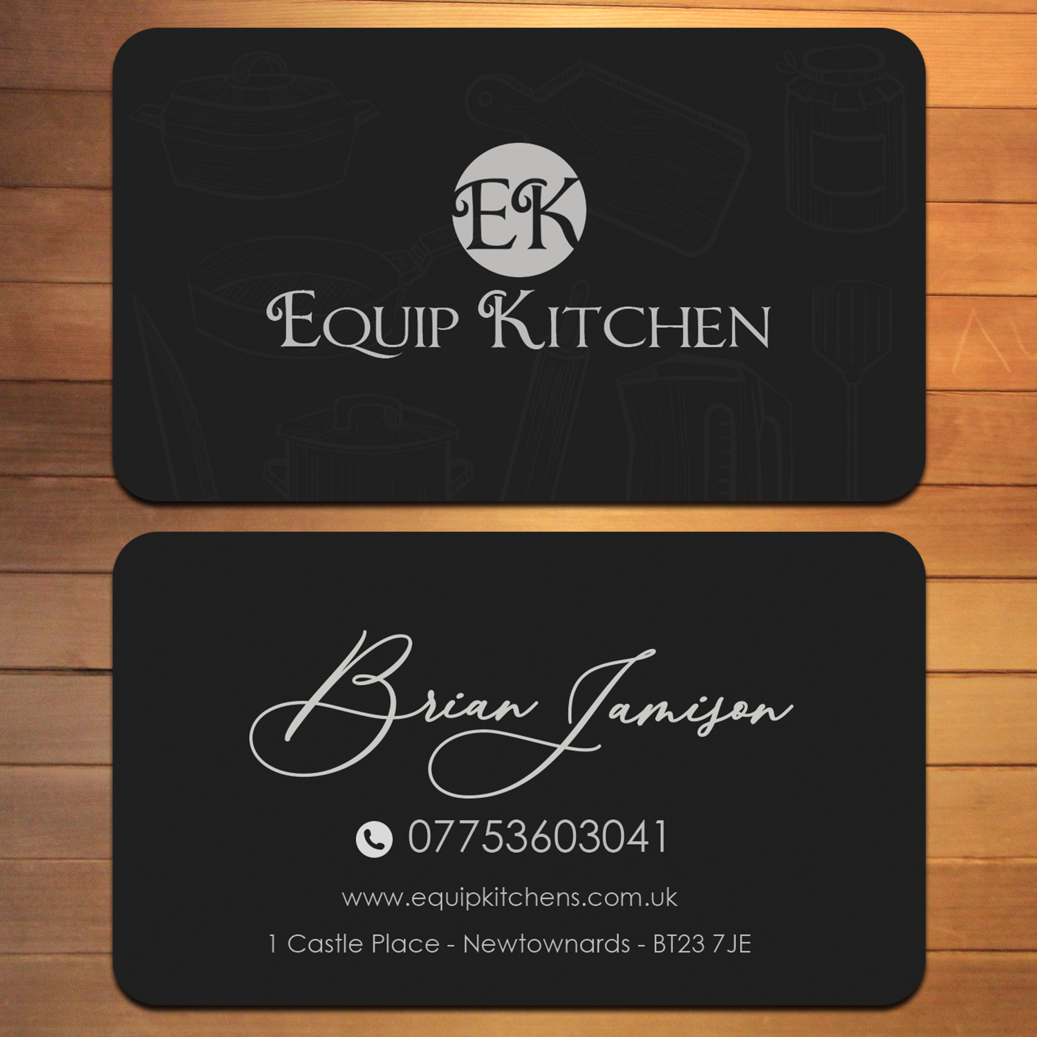 Professional Upmarket Interior Design Business Card Design For