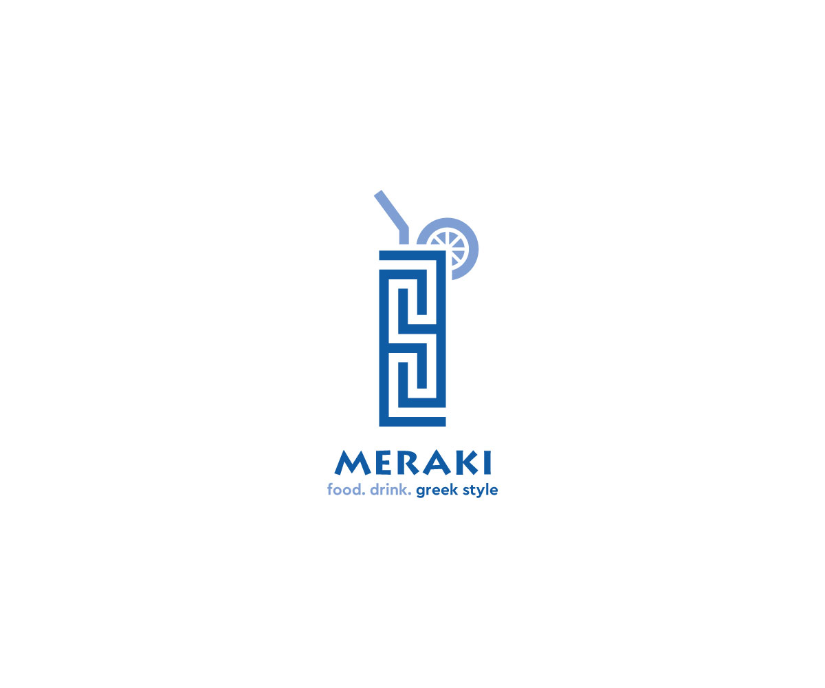 Elegante Jugueton Greek Restaurant Diseno De Logo For Meraki Food Drink Greek Style Por Neil Diseno 20346066