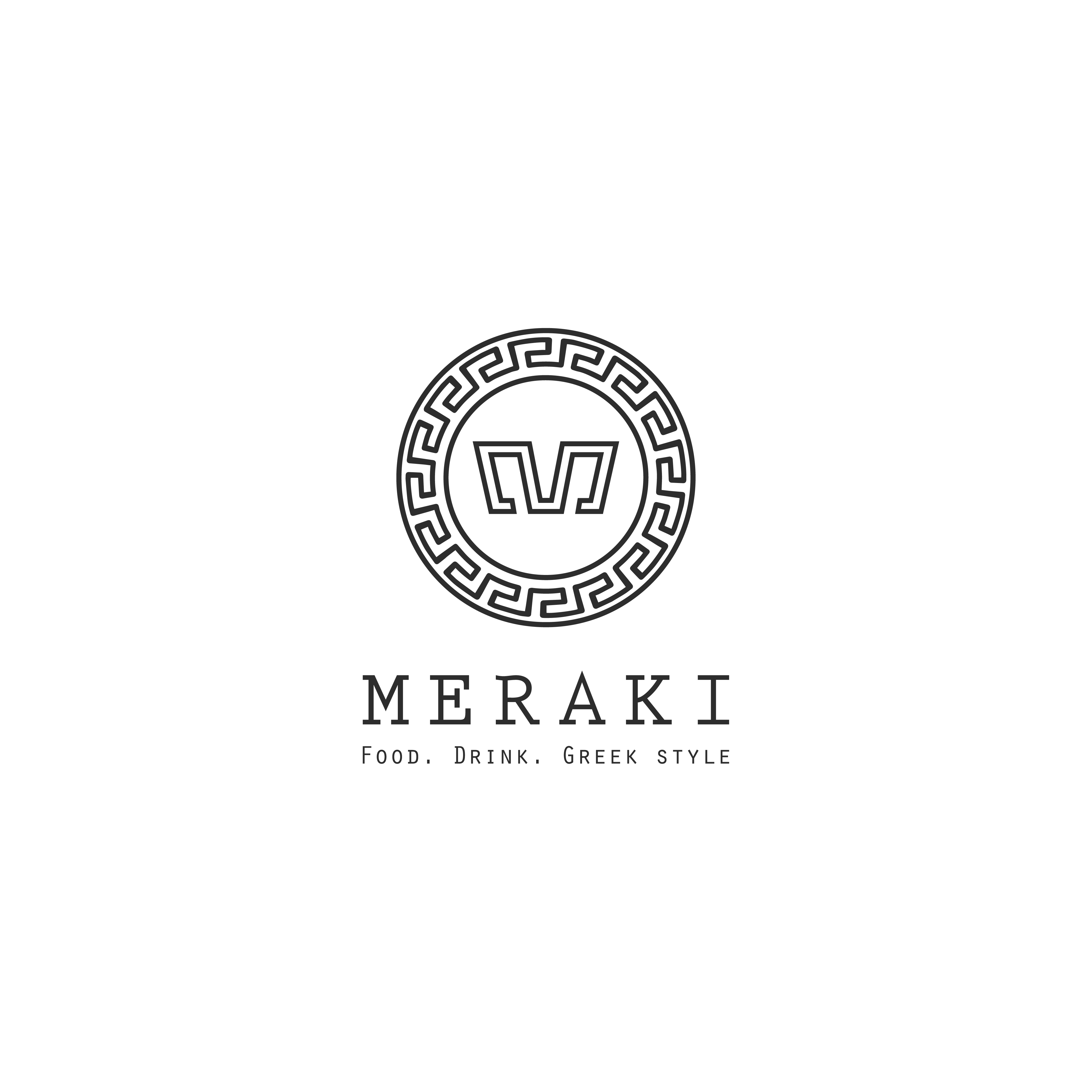 Elegant Playful Greek Restaurant Logo Design For Meraki Food Drink Greek Style By Rameez Remy Design 20358856