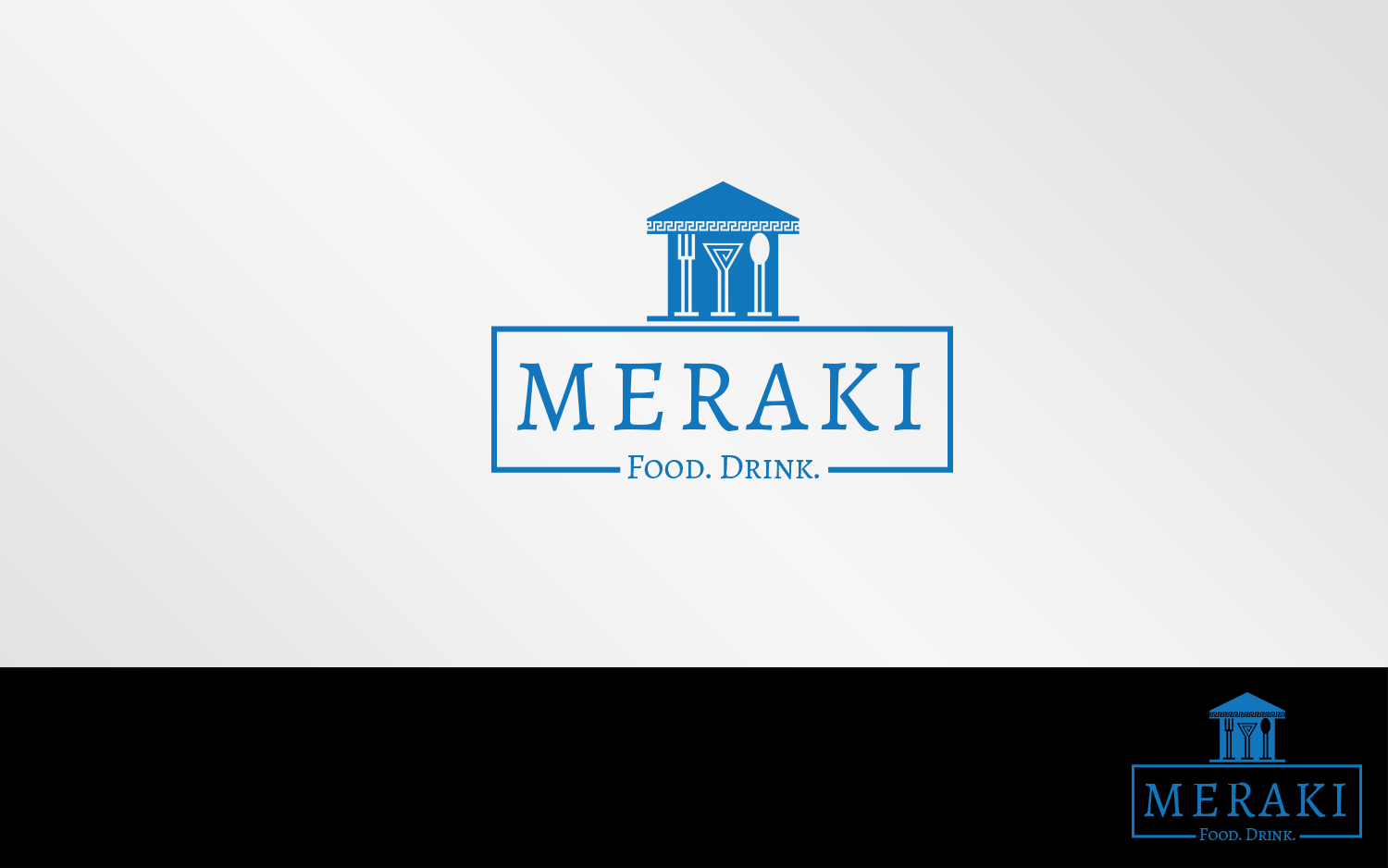 Elegant Playful Greek Restaurant Logo Design For Meraki Food Drink Greek Style By Grafactory Design 20338476