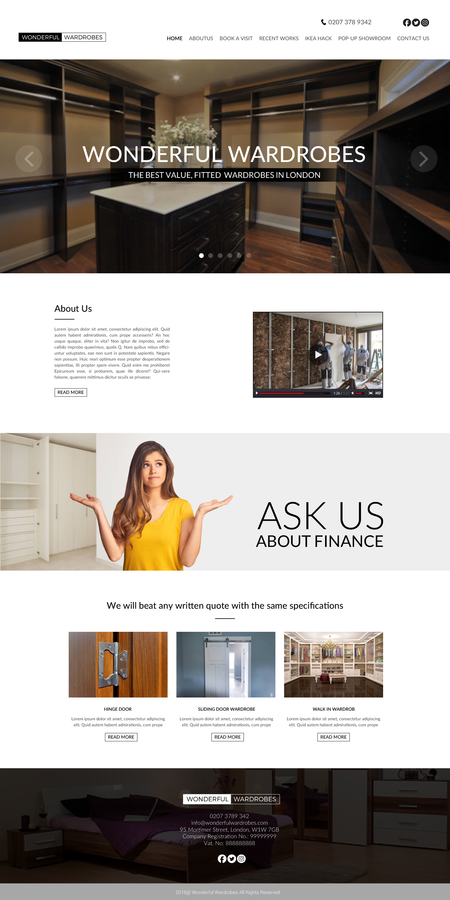 Elegant, Playful Web Design for a Company by chandrayaan