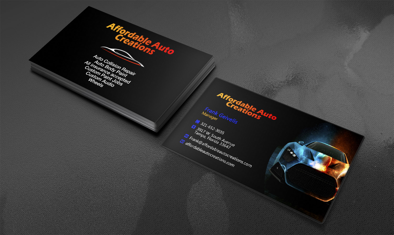 Bold Professional Business Card Design For A Company By