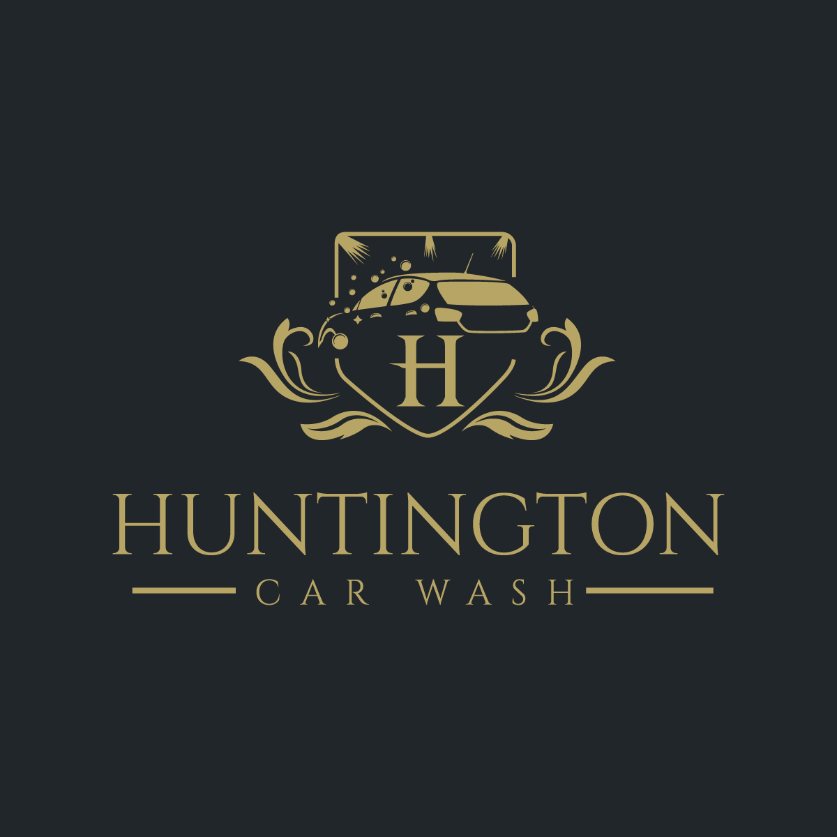 Elegant Serious Logo Design For Huntington Car Wash New York By