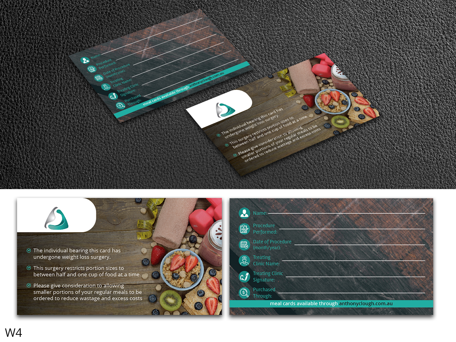 Playful Bold Health Care Business Card Design For Anthony Clough