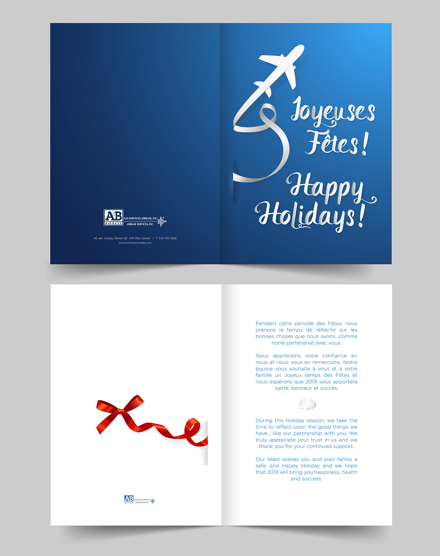 elegant modern aviation greeting card design for a