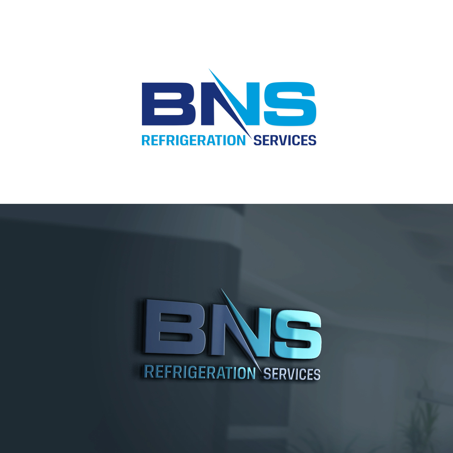 Modern, Professional Logo Design for BNS REFRIGERATION
