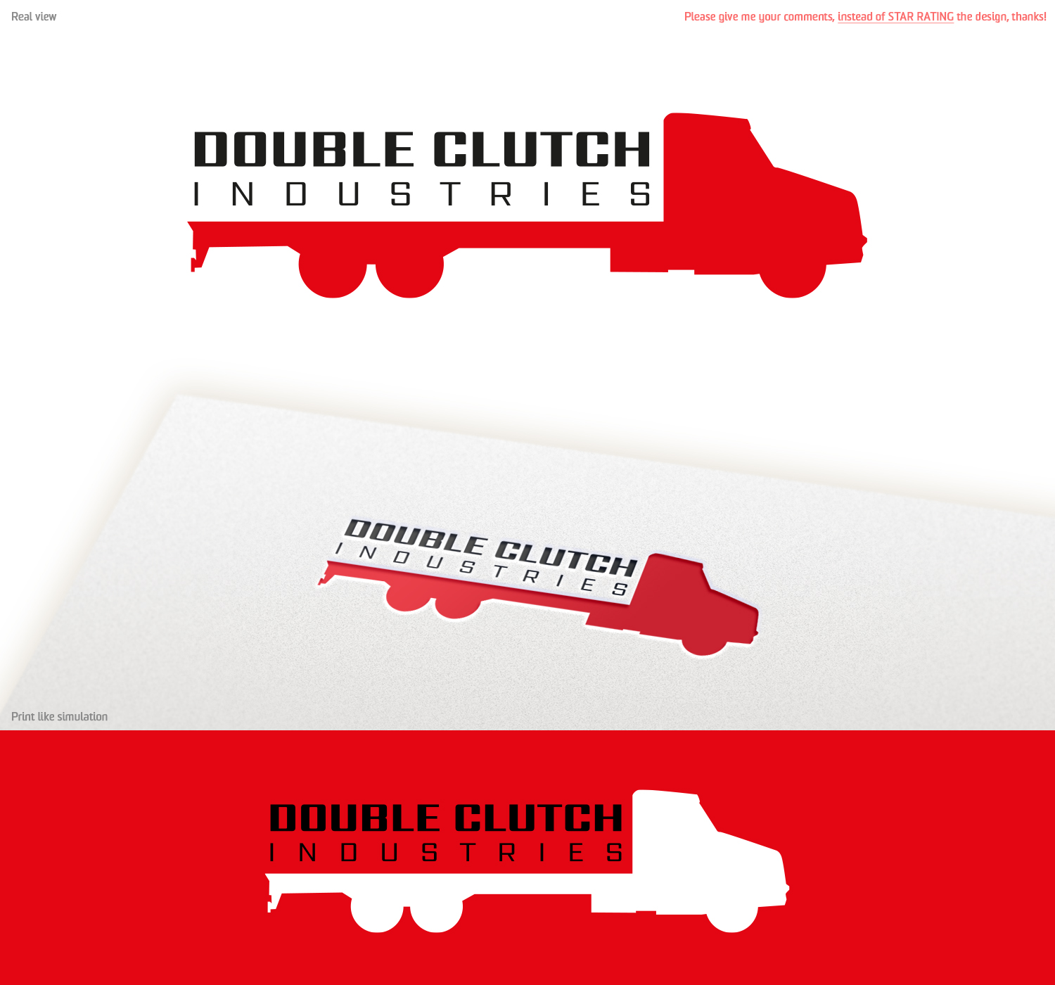 Masculine, Serious, Delivery Service Logo Design for Double
