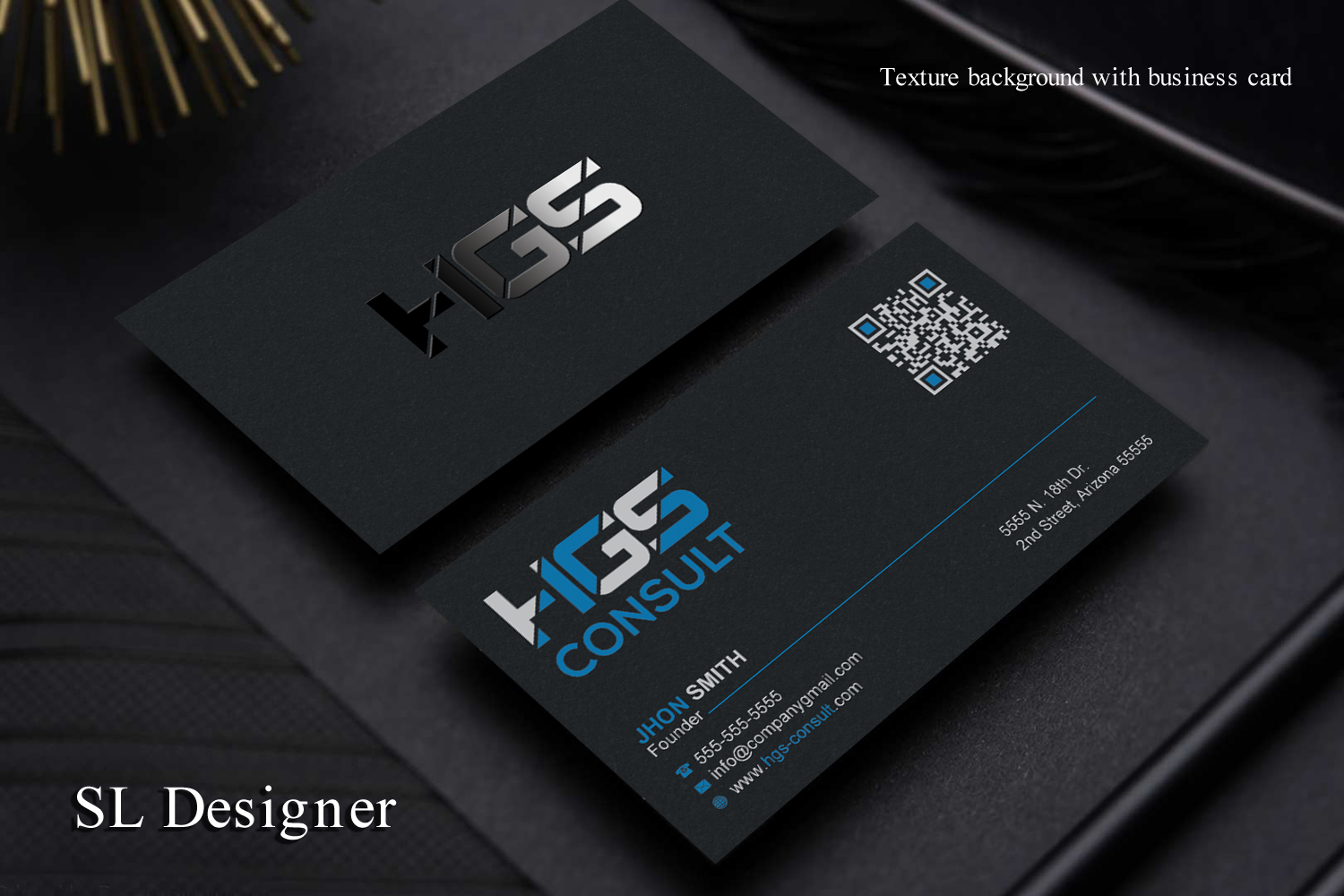 Elegant Professional Business Card Design For A Company By