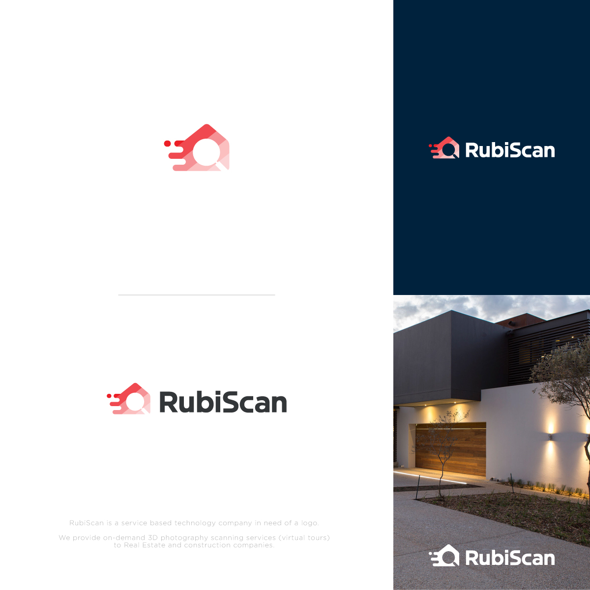Modern, Bold, Real Estate Logo Design for RubiScan by