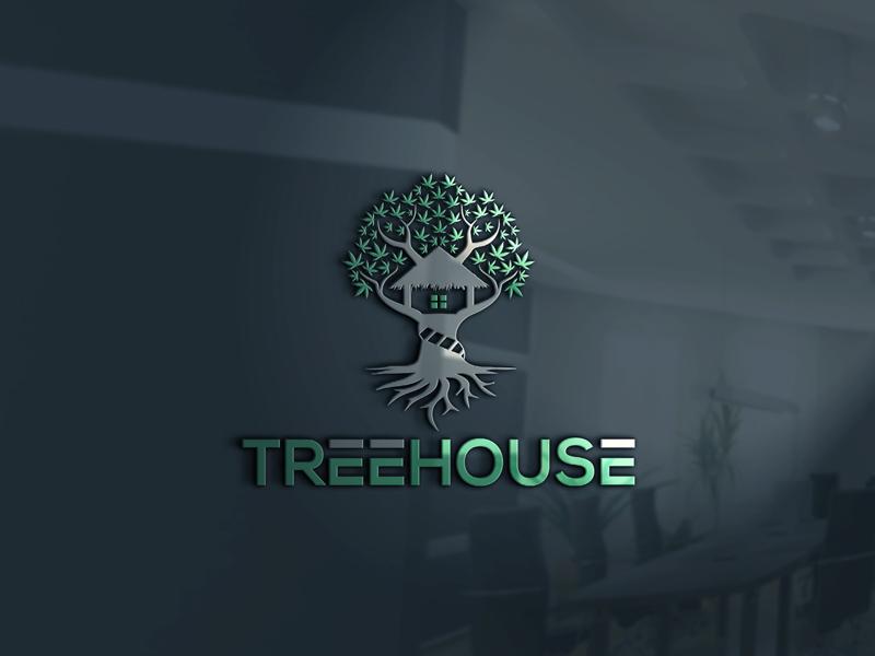 Logo design for a Treehouse Hemp Jamaica by Monmon