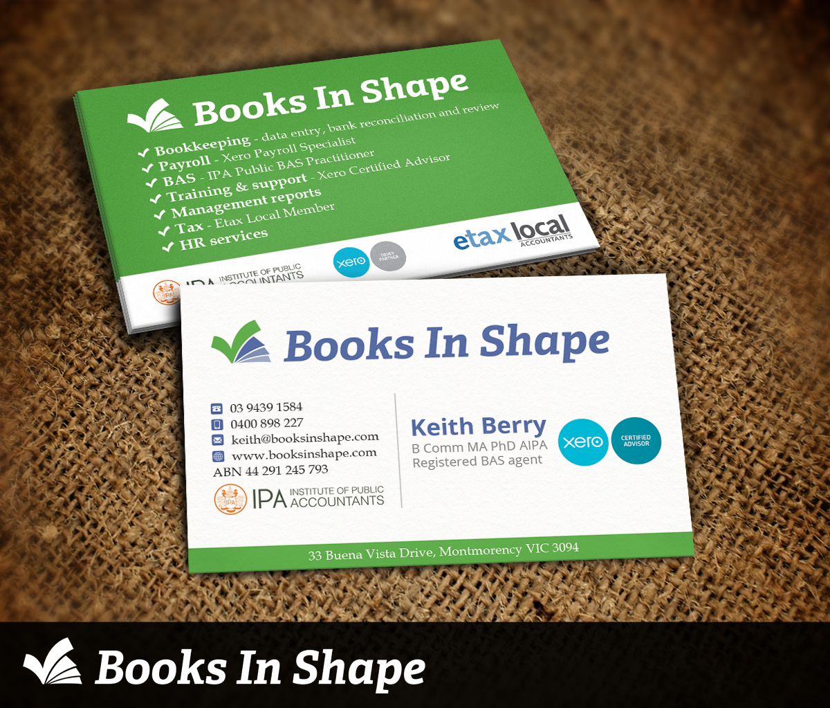 Business Card Design for Keith M & Christine M Berry by Nelsur ...