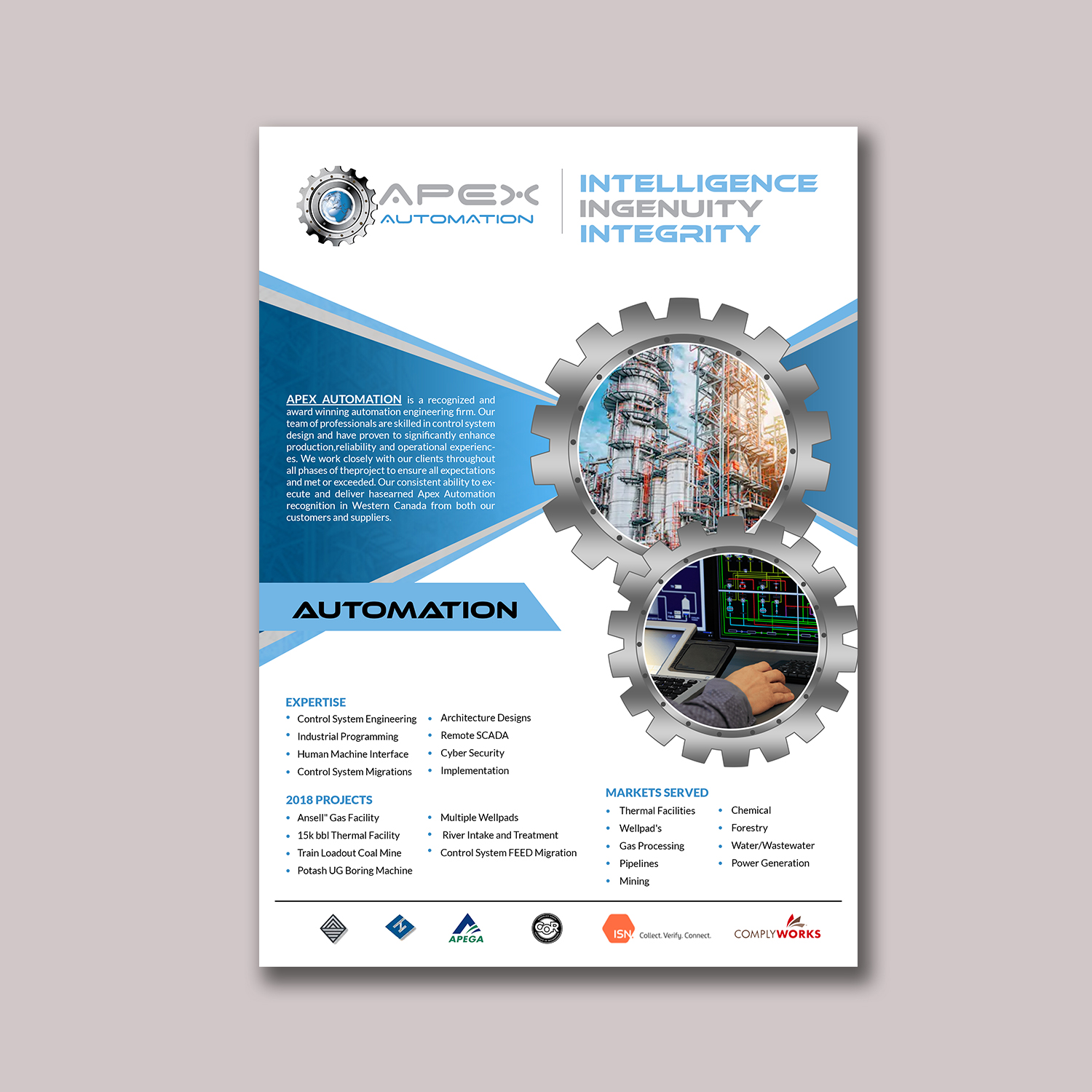 Brochure Design for a Company by hih7 | Design #20637962