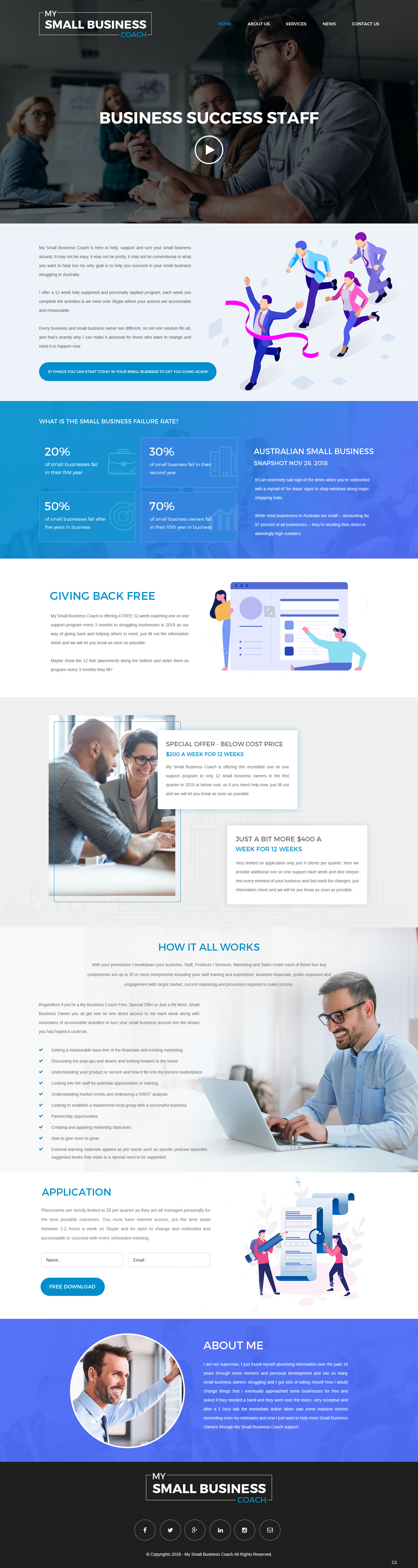 Modern Professional Business Consultant Web Design For My Small Business Coach By Pb Design 20639993