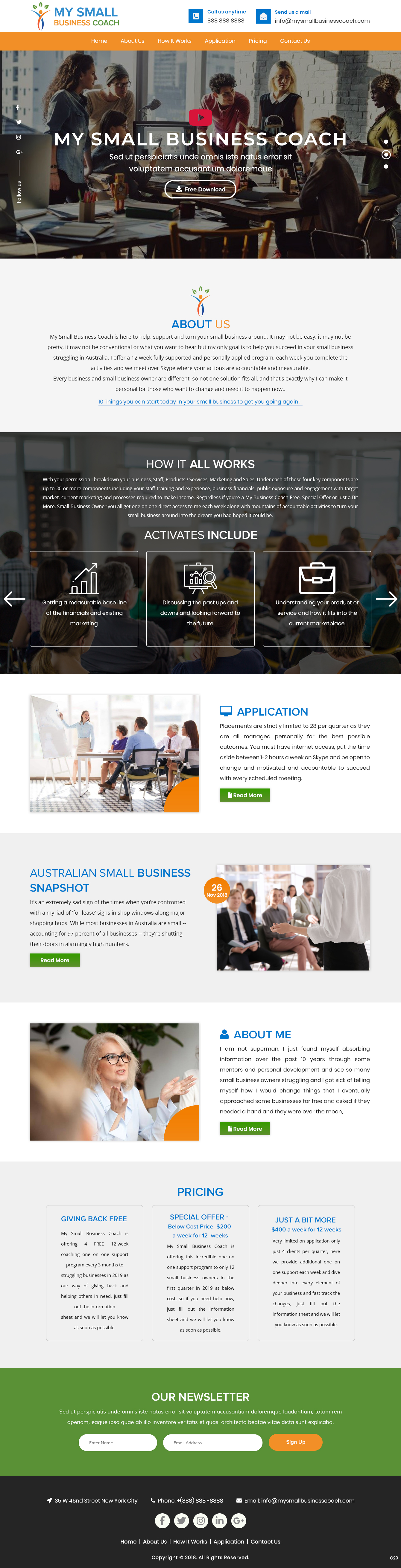 Modern Professional Business Consultant Web Design For My Small Business Coach By Pb Design 20640023