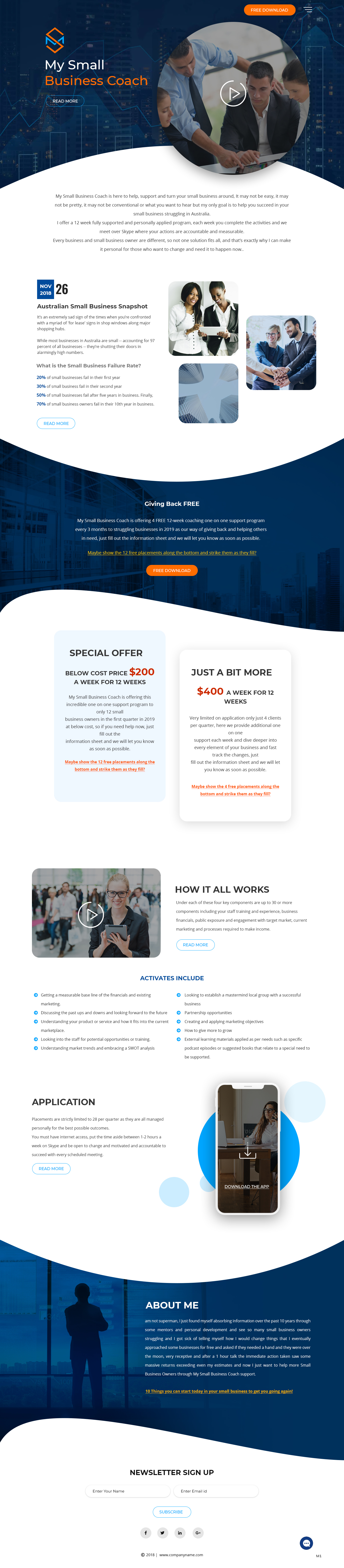 Modern Professional Business Consultant Web Design For My Small Business Coach By Pb Design 20640036