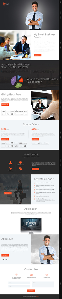Modern Professional Business Consultant Web Design For My Small Business Coach By Da Miracle Design 20673689