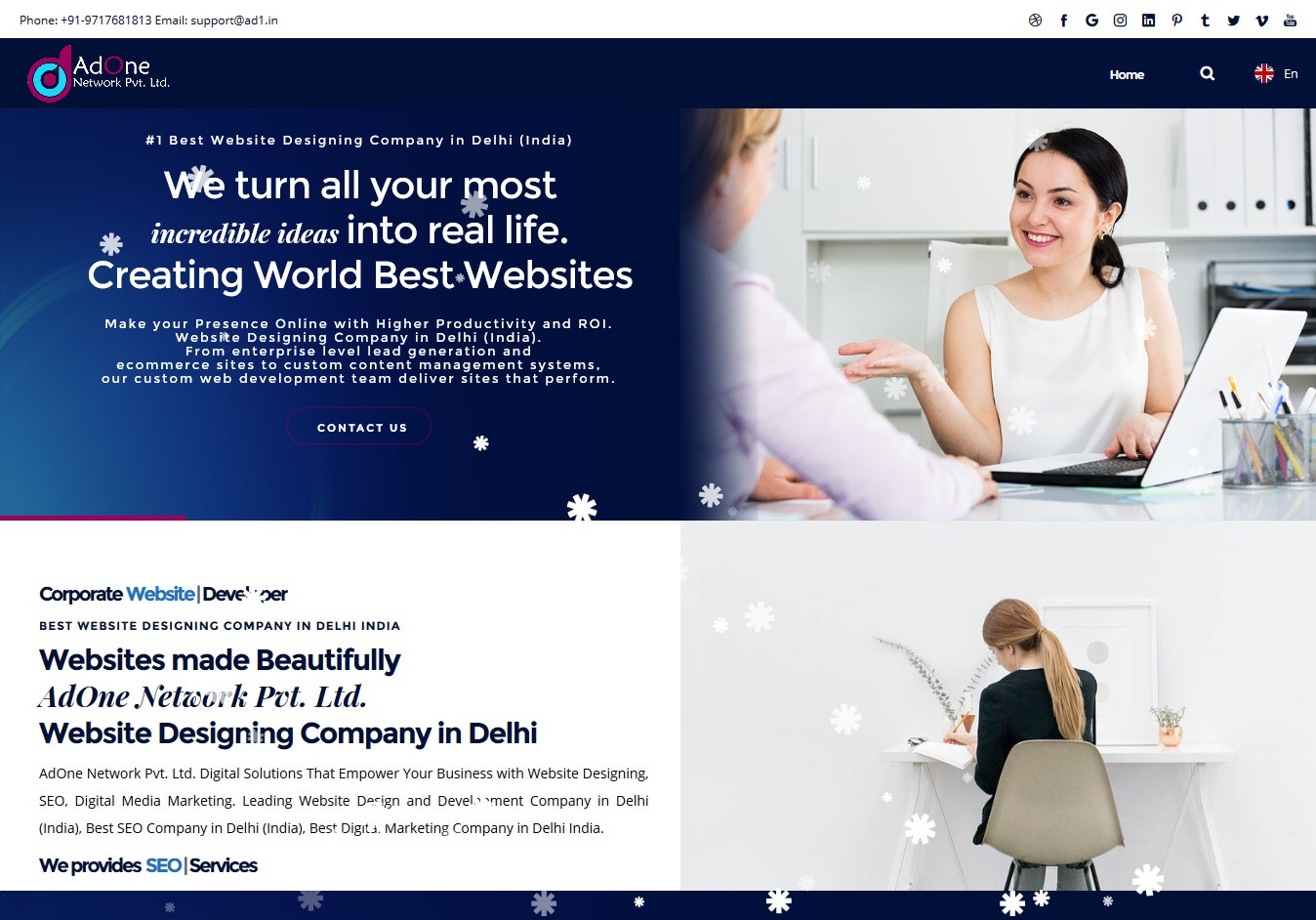 Playful Bold Web Design For A Company By Adone Network Pvt Ltd Design 20675914