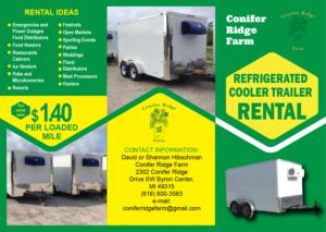 Cooler Trailer Rental Flyer | 46 Flyer Designs for a