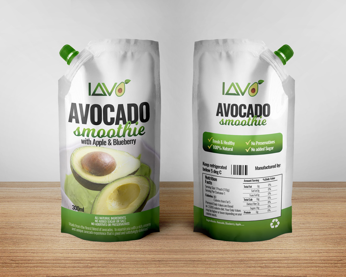 Avocado Smoothies (100% Natural, No Preservatives, No added